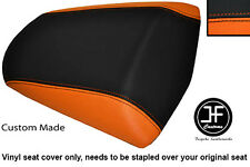 BLACK & ORANGE VINYL CUSTOM FITS KAWASAKI Z 1000 SX 10-13 REAR SEAT COVER ONLY