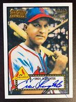 Enos Slaughter 2001 Topps Heritage Real One Auto Autograph St. Louis Cardinals