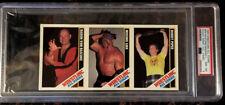 1985 Wrestling All-Stars Von Raschke Roddy Piper Hand-Cut PSA 8 NM-MT Card POP 1