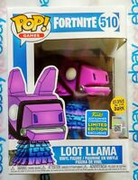 Funko Pop! Fortnite Loot Llama Glow In The Dark #510 SDCC 2019 Exclusive