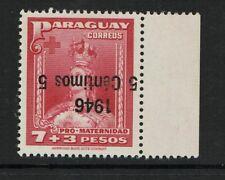 Paraguay SC# 433 Inverted Ovpt MNH / Signed Kneitschel - S11797