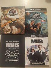 Jurassic Park/Men In Black 4K Blu-Rays