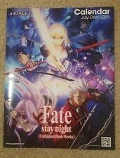 Aniplex Anime Calendar July-Dec 2015 Fate Stay Night, God Eater, Kill La Kill
