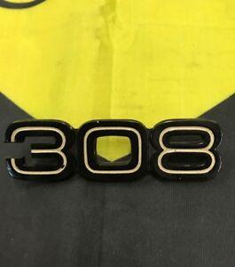 FERRARI 308 GTB QUATTROVALVOLE REAR BUMPER EMBLEM OEM 60044104