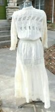 ANTIQUE AUTHENTIC VICTORIAN LAWN DAY DRESS