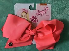 NICKELODEON JOJO SIWA HUGE BIG SIGNATURE HAIR BOW NEON PINK BRIGHT GIRL NEW