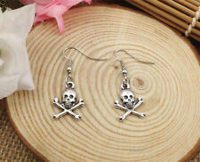 Free shipping Fashion Antique Silver Jewelry  Skull earring @1