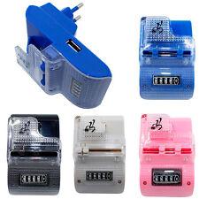 CARGADOR DE RED PARA CASA UNIVERSAL BATERIAS + USB  MOVILES Y CAMARAS LCD BATT