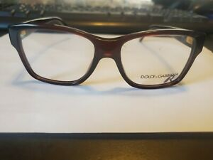 New Dolce & Gabbana DG3126 1830 52mm/15/140 Brown LEOPARD RX Frames Italy