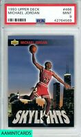 1993 UPPER DECK Michael Jordan #466 SKYLIGHTS GOAT HOF CHICAGO BULLS PSA 9 MINT