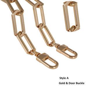 DIY Purse Chain Strap Handle Shoulder Handbag Bag Metal Replacement Detachable