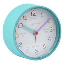 London Clock Co 9 cm Kids Tell The Time Alarm Clock Teal