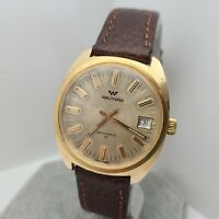 Vintage WALTHAM 905-6019 Men's Automatic watch cal.FHF 905 17J date swiss 1970s
