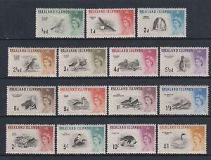 Falkland Islands - 1960, 1/2d - Birds Complete set - MNH - SG 193/207
