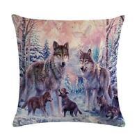 3D Animal Wolf Cushion Cover Sofa Car Decor Throw Pillow Case Christmas Gift 6L