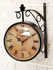 "VICTORIA STATION 1747 LONDON DOUBLE SIDED 6"" CLOCK*/ RAILWAY STATION HOME DECOR"
