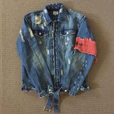 Brand New Distressed Denim Jacket - XL