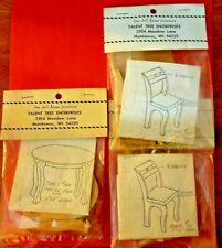 Lot of (3) Matching Vintage Dollhouse Dining Furniture Wood Kits FACTORY SEALED