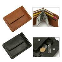 Retro Cowhide Leather Mens Dollar Money Clip Magic Wallet Card Card Case S1 H1T9