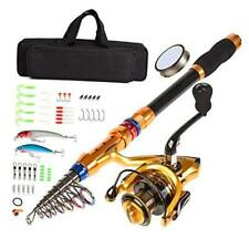 Fishing Rod and Reel Combo Saltwater Freshwater-12 Ft Carbon Fiber Telescopic F