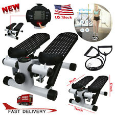 Aerobic Fitness Step Air Stair Climber Stepper Exercise Machine Equipment W/Band