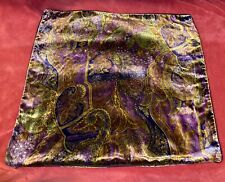 """RARE Ralph Lauren Rutherford Park Paisley Velvet Velour Pillow Cover  20""""x20"""""""