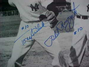 TONY KUBEK & PHIL RIZZUTO SIGNED NY YANKEES 8X10 PHOTO