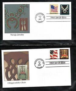 2007 American Series 2¢, 4¢ , 1¢, & 3¢ Fleetwood 4 FDC