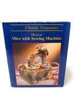CLASSIC TREASURES MUSICAL MICE SEWING MACHINE WORKS WITH BOX