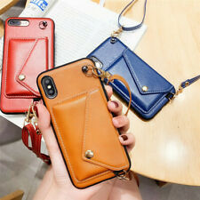 Leather Crossbody Strap Case Cover For iPhone 12 Mini 11 Pro Max XS XR 8 7 Plus