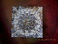 """Crystal ashtray 5"""" square excellent condition"""