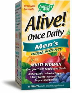 Nature's Way Alive! Once Daily Men's Multi-Vitamin, 60 Tabs (9 Pack)