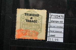 STAMPS OLD BRITISH COLONIES TRINIDAD FISCAL REVENUE USED (F122475)
