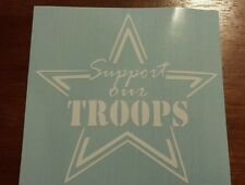 Vinyl Decal Sticker..Support Our Troops Star..Armed Forces..Car..Truck..Window