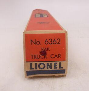 BX Lionel Postwar (2) 6362 Rail Truck Car  - Two Empty Boxes