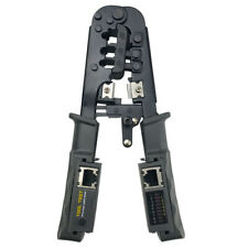 Network Cable Tester, Ethernet Cable Stripper Cutter Network Connector Crimping
