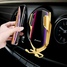 Auto Clamping R1 Smart Sensor Car Mount Phone QI Wireless Fast Charger Holder