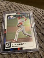 AARON NOLA ROOKIE CARD Baseball Philadelphia Phillies 2016 DONRUSS OPTIC RC!🔥⚾️