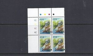 FIJI 2011 BIRD PROVISIONAL (Sc 1254a 20c on 31c shifted to right) VF MNH blk/4