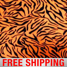 "Orange Zebras Stripes Fleece Fabric - 60"" Wide - Style# PT982 - Free Shipping"