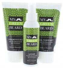 Naürlicher Bart Wachstumsbeschleuniger Lotion + Shampoo + Gel - My Green Beard
