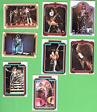 #D270. EIGHT 1978  KISS  MUSIC  CARD #17, 60, 16, 44, 31, 10, 34, 48
