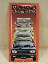 Toyota 1979 Factory Brochure, Celica Corolla Corona Cressida SR-5 Land Cruiser