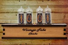 IN-14 Nixie Tube Retro Clock Assembled Tested Wooden Case with Adapter 110/240V