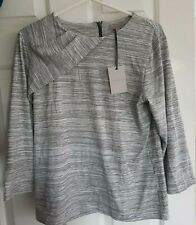 Womens Ana Jakobs Size Large Uk 14 Black White Stripe 3/4 Length Sleeve New tags