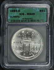 1984-D Olympic Silver Dollar Commemorative ICG MS-69