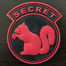 3D PVC Rubber Top Secret Squirrel USA Military Tactical Morale Sticker OPS Patch