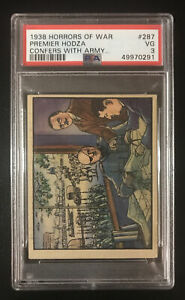 """PSA 3 1938 Horrors Of War """"Premier Hodza Confers With Army Heads Over War"""" #287!"""