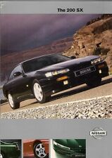 Nissan 200 SX 2000-01 UK Market Sales Brochure Touring Pack Silvia