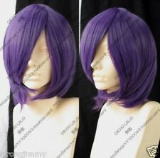 Hot Sell! Fashion Wig Short Dark Purple Cosplay Party Wigs